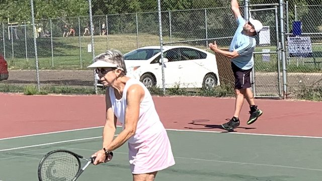 Tennis players at Saturday morning drop-in