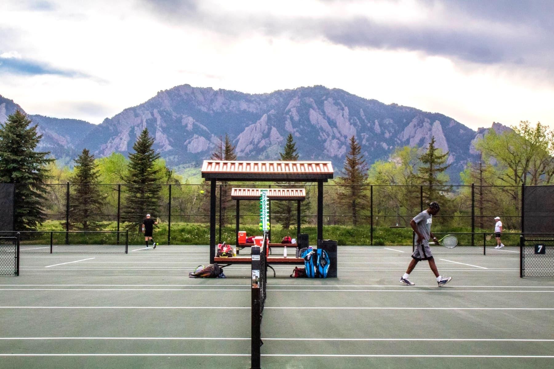Austin Scott Tournament with Flatirons in background