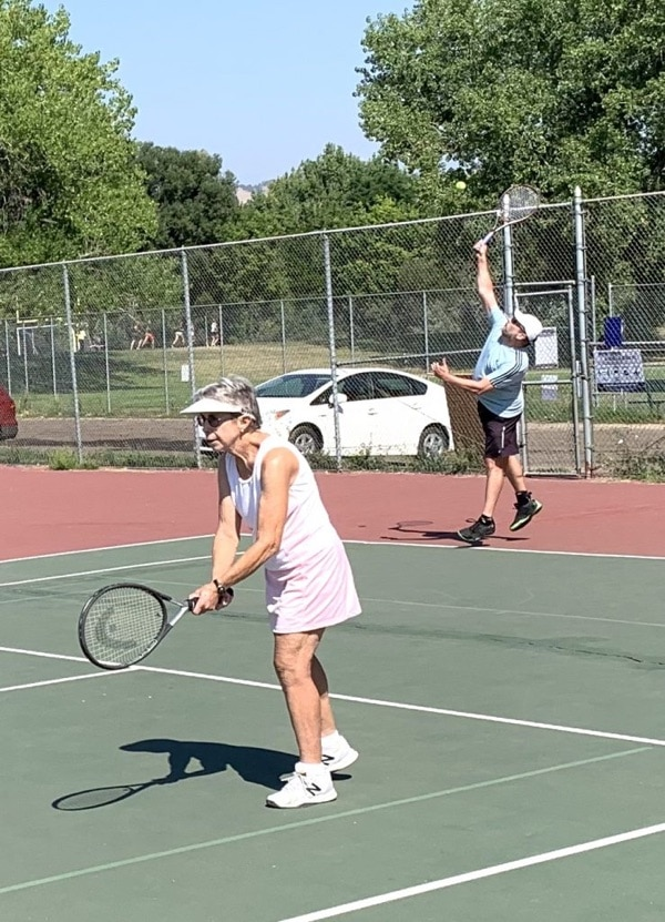 Tennis players at Saturday morning drop-in